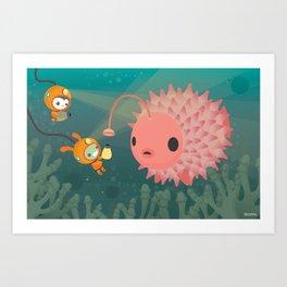 The Octonauts Pufferfish Art Print