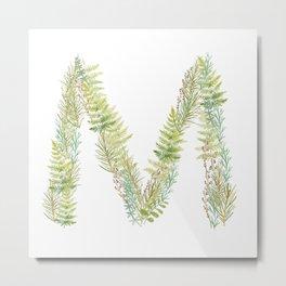 Initial M Metal Print
