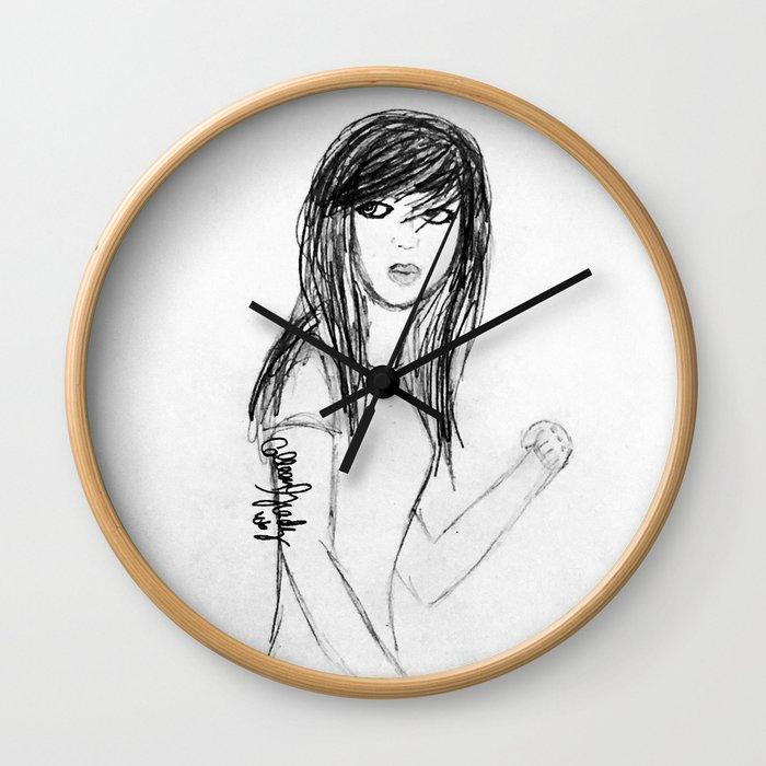 Teen Girl Angst Wall Clock