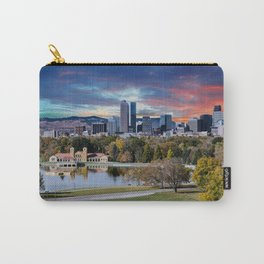 Denver Skyline and Mountains Beyond Lake Carry-All Pouch