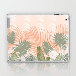 Abstract tropical plants pastel Laptop & iPad Skin