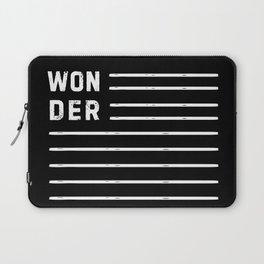 WONDER STRIPES (black) Laptop Sleeve