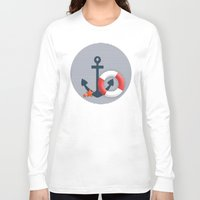 nautical Long Sleeve T-shirts featuring Nautical  by Miracle