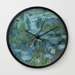 Monet, Water Lilies, Nympheas, Seerosen, 1915 Wall Clock
