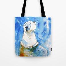 Polar Bear Inside Water Tote Bag