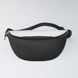 Color Block-Black and White Fanny Pack
