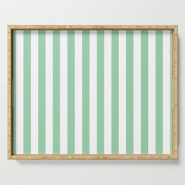 Mint Green Small Even Stripes Serving Tray