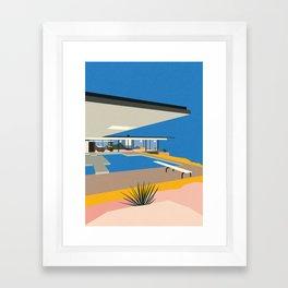 The Stahl House Framed Art Print
