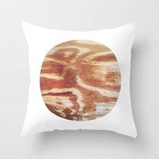 Planetary Bodies - Wood Throw Pillow