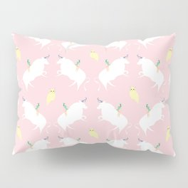 The girl, the bull and the owl, (pink) Pillow Sham