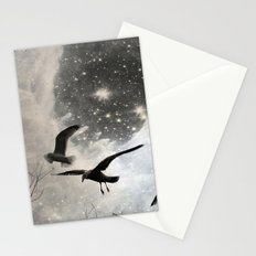 Celestial Seagulls Stationery Cards