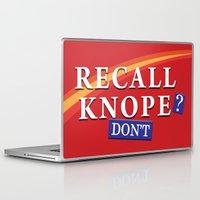 leslie knope Laptop & iPad Skins featuring Recall Knope by BovaArt