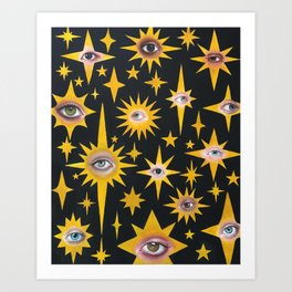 Star eyes Art Print