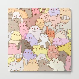 Cats own the internet Metal Print
