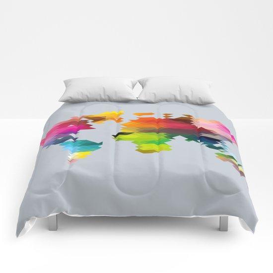 Geo World Map Comforters