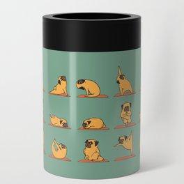 Pug Yoga Can Cooler