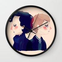 221b Wall Clocks featuring 221B by Nan Lawson