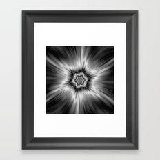Black and White Star Burst Framed Art Print