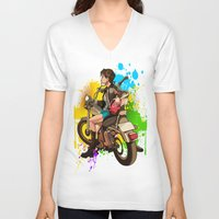 silent V-neck T-shirts featuring Silent by Don Kuing