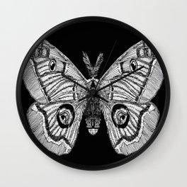 Polyphemus Moth Wall Clock