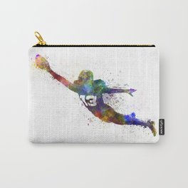 american football player scoring touchdown Carry-All Pouch