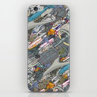 battlestar iPhone & iPod Skins featuring Battlestar by Guy Warley