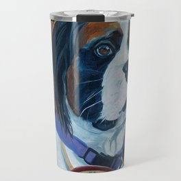 Nori the Therapy Boxer Dog Portrait Travel Mug