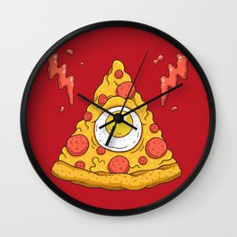 Pizzaminati Wall Clock