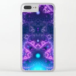 Fractal Flame 2 Clear iPhone Case