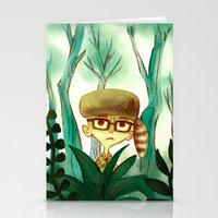 moonrise kingdom Stationery Cards featuring Moonrise Kingdom by Van Huynh