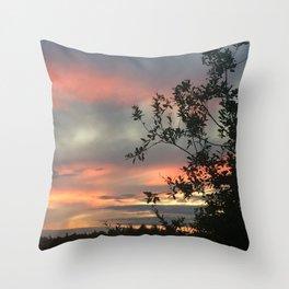 Sky flames Throw Pillow