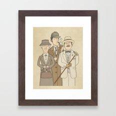 The Detectives - Miss Marple, Sherlock Holmes, Hercule Poirot Framed Art Print