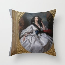 Picture of a Picture of a Beauty Throw Pillow