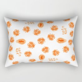 Kiwano, Papaya & Gooseberry • Mandala Rectangular Pillow