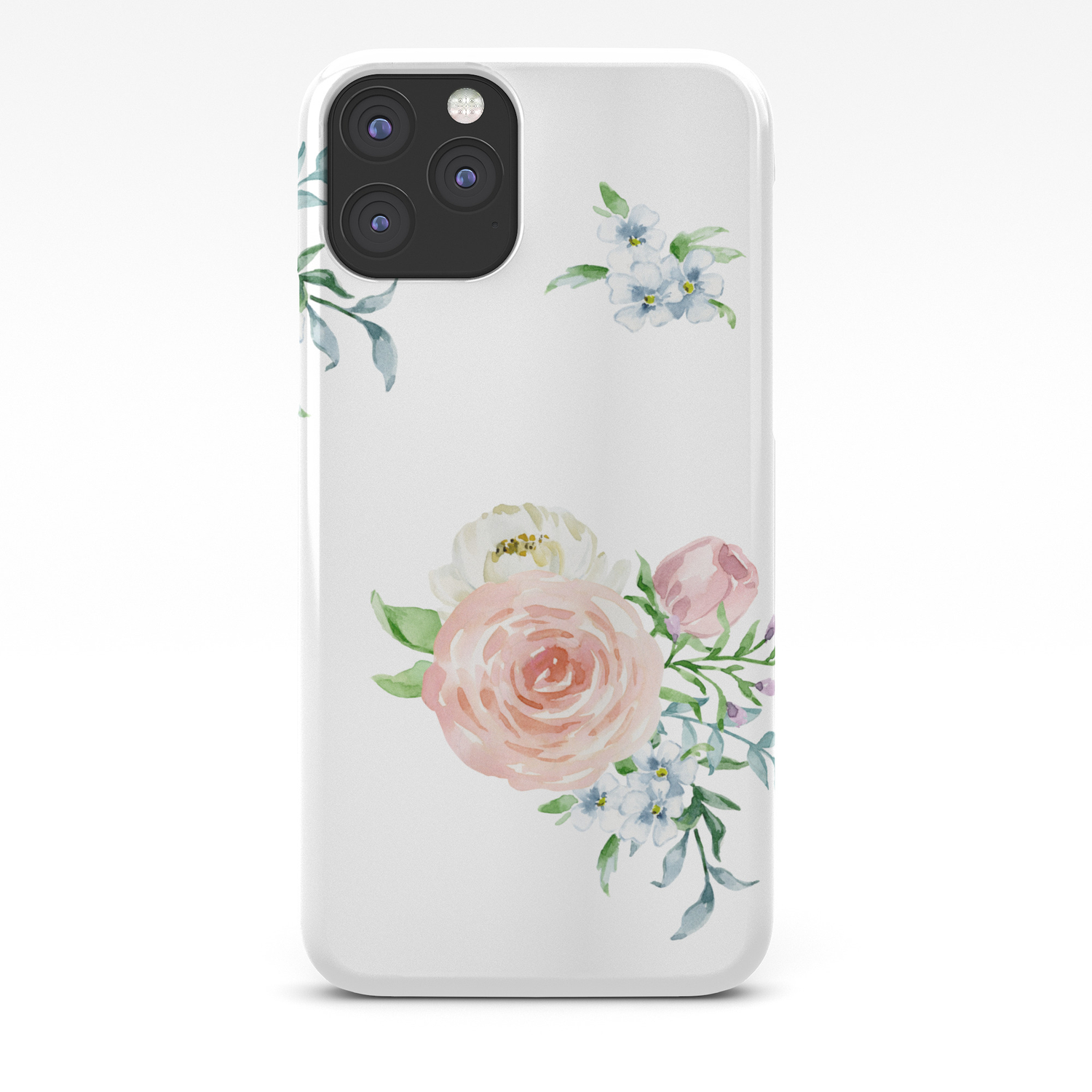 Watercolor Floral Background Pastel Colors Iphone Case By Jkdizajn