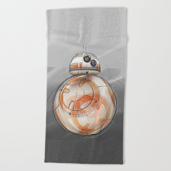 BB8 - on the move Beach Towel