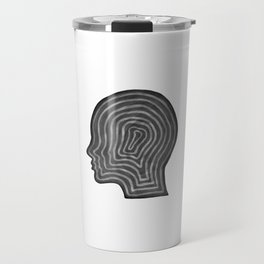 Abstract head profile Travel Mug