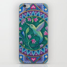 Hummingbird Mandala iPhone Skin