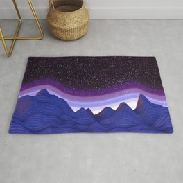 Mountains in Space Rug