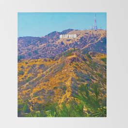 @Hollywood Throw Blanket