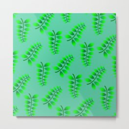 Sponged Foliage Pattern. Metal Print