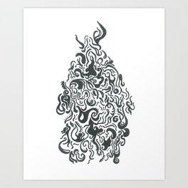 Line Monster Art Print