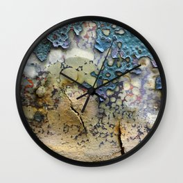 Teal Peel Wall Clock