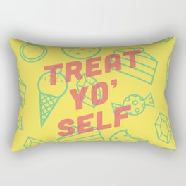 Treat Yo' Self Rectangular Pillow