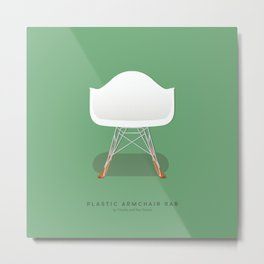 Plastic Armchair RAR - Charles & Ray Eames Metal Print