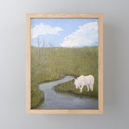 Brook Horse Framed Mini Art Print