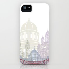 Kolkata skyline poster iPhone Case