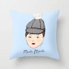 Moshi Moshi - Blue Throw Pillow