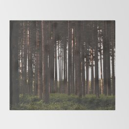 Moody Forest - Landscape and Nature Photography Throw Blanket