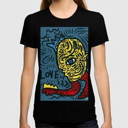Punk Love Street Art Graffiti by Emmanuel Signorino T-shirt